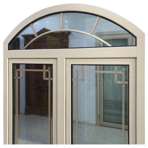 beige color aluminum frame arch window grill design casement windows chinabeige color