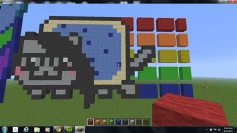 Pixel Art Minecraft Nyan Cat By Chopperextra