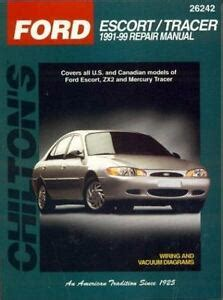 motor auto repair manual 1999 ford escort security system chilton repair manual repair guide ford escort zx2 mercury tracer 1991 1999 9780801990984 ebay