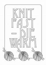 Knitting Coloring Template sketch template