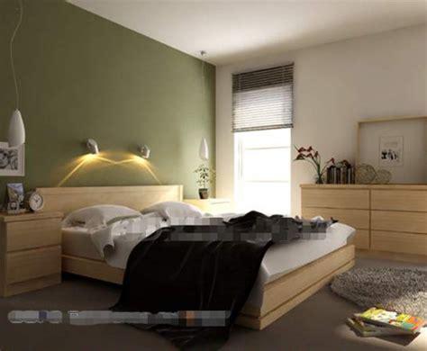 chambre coucher simple simple chambre verte mur du fond 3d model free 3d
