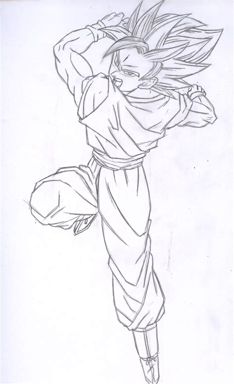 goku ssj drawing dillon   apr