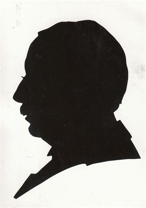 silhouette portrait drawing draw portraits axel 1866 1921 self senior identity scherenschnitte