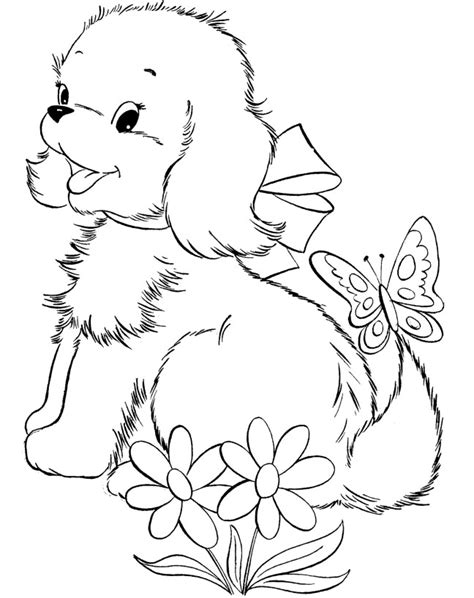 A Puppy And Kitten Coloring Pages Christmas Tree To Print
