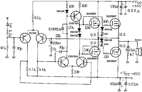 Mosfet Power Amplifier Circuit Diagram World