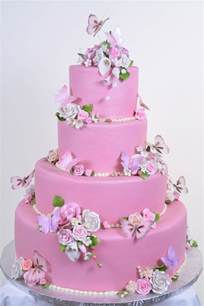 fondant hochzeitstorte wedding cakes pictures pink butterfly wedding cakes