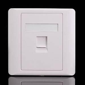 Universal Rj45 Cat5e Socket Faceplate Network Lan Keystone