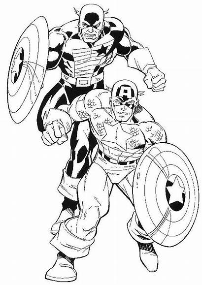 Coloring Daredevil Pages Captain America Template Comics