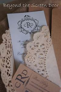 pinterest With diy wedding invitations with doilies
