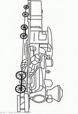 Coloring Pages Steam Locomotive Outline Printfree Machinery sketch template
