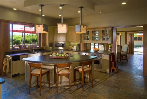 kitchen triangle with island ridge top retreat contemporary kitchen san francisco