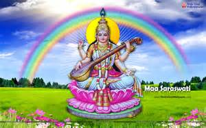 Goddess Saraswati Desktop Wallpaper