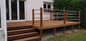 Erhöhte Terrasse Bauen : terrassentreppe holz google suche garten pinterest terrasse berdachung terrasse und garten ~ Orissabook.com Haus und Dekorationen
