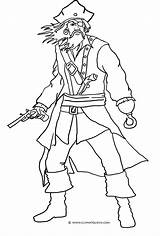 Pirate Coloring Drawing Pages Easy Clipart Pirates Scary Ic Clipartqueen sketch template