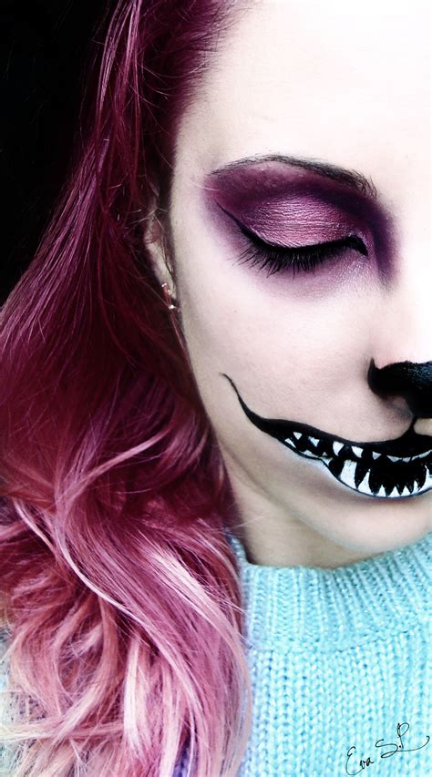 We're All Mad Here (chessire Cat Halloween Makeup) By