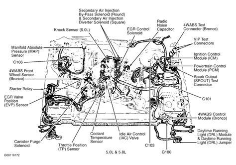 Bu Engine Compartment Diagram by Ford F150 Engine Diagram 1989 1994 Ford F150 Xlt 5 0