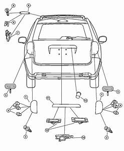 2004 Dodge Grand Caravan Wiring  License Lamp   License
