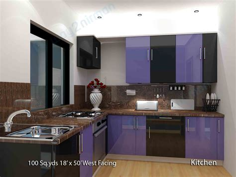 kitchen room interior way2nirman 100 sq yds 18x50 sq ft house 1bhk