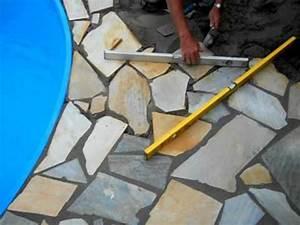 Polygonalplatten Auf Beton Verlegen : polygonalplatten youtube ~ Lizthompson.info Haus und Dekorationen