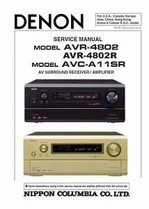 Denon Avr 4802 4802r Avc A11sr Receiver  U0026 Amplifier