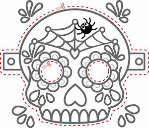 the gallery for gt dia de los muertos skull mask template With day of the dead skull mask template