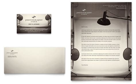 photography studio business card letterhead template