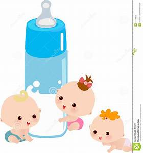 Baby With A Big Milk Bottle Stock Photo - Image: 17116670