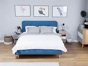 Bett Mit Lattenrost 180x200 : bett dunkelblau doppelbett 180x200 cm ehebett polsterbett rennes ~ Bigdaddyawards.com Haus und Dekorationen