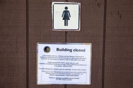 michigan state park bathrooms gathering spots shut