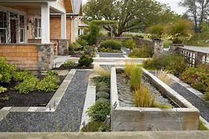 Concrete water trough fountain