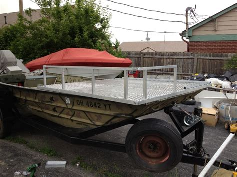 Bowfishing Boat Cost by My 1860 Flat Bottom Led Build With Mostly Scrap Aluminum Deck