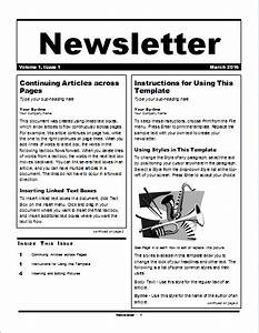 Free Newsletter Templates For Pages 15 Editable Newsletter Templates For Ms Word Document Hub