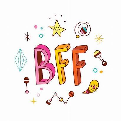 Friends Forever Bff Vector Illustration Illustrations Clip