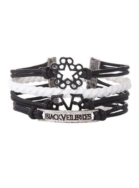 black veil brides logos bracelet hot topic accessories