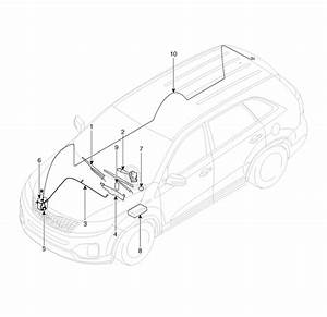 Kia Sorento  Component Location  Washer