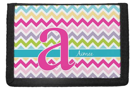 colorful wallets colorful chevron trifold wallet personalized