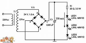 High Current Led Drive Circuit Diagram With Ac Power