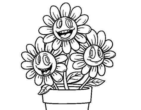 coloriage de pot de fleurs pour colorier coloritou