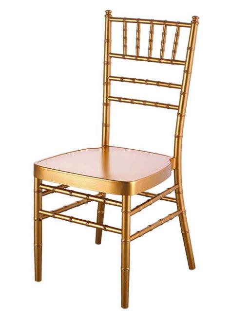 gold aluminium banqueting chair wedding chiavari chair for