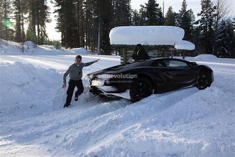 lamborghini aventador test car crash autoevolution