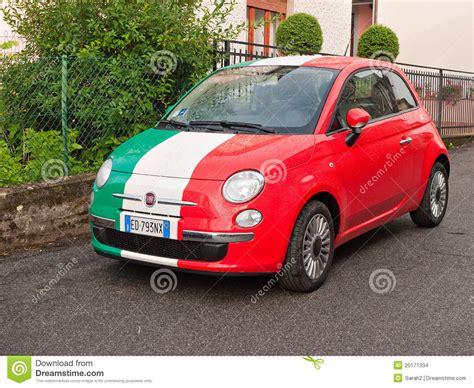 Is Fiat Italian fiat maggiore in italian flag colours editorial stock