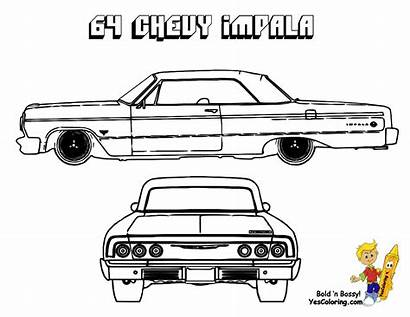Coloring Impala Pages Chevy Muscle 1964 Chevrolet