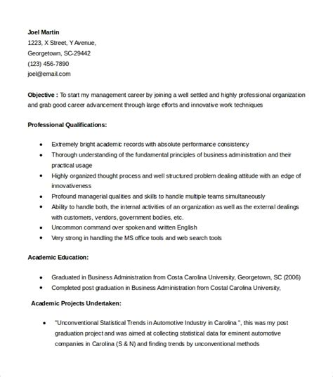 Mba Resume Template by 54 Resume Templates Sle Templates