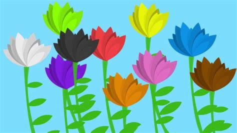 flower color quot the flower song quot lullaby for learning colors children