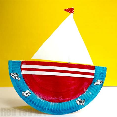rocking paper plate boat ted 126 | Paper plate ship