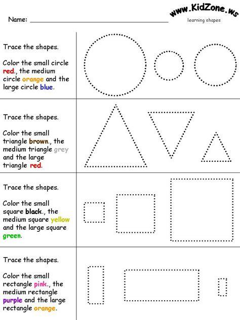 small medium large shapes teaching lesson ideas 880 | 39acc34369e472d862c06ce239269faf preschool shapes shape activities