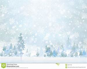 Vector Winter Scene With Forest Background. Stock Vector ...