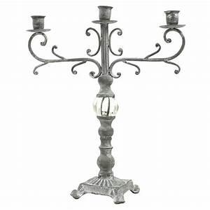 Chandelier De Table : bougeoir chandelier en fer et fonte de table chandelier gris fer chemin de campagne ~ Melissatoandfro.com Idées de Décoration