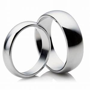 matching 3mm 5mm d shape platinum wedding rings 087 With his and hers platinum wedding rings