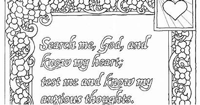 Psalm 139 Coloring Printable God Know Heart